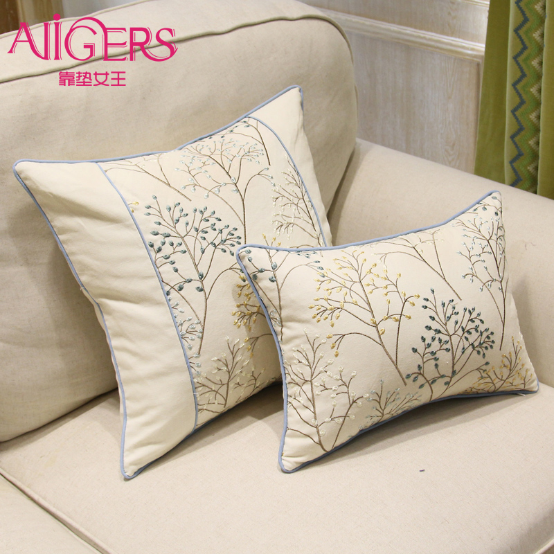Christmas Xmas Linen Cushion Cover Throw Pillow Case Home: Avigers Luxury Pastoral Cushion Cover Embroidery Pillow