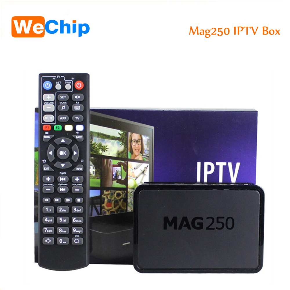 Wechip Best Linux Mag250 IPTV Set Top Tv Box Support Wifi usb Connector Cable Not