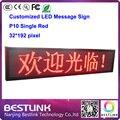 32 * 192 пикселей p10 один красный из светодиодов движущихся знак с p10 открытый из светодиодов дисплей модуль программируемый знак из светодиодов такси топ из светодиодов экран