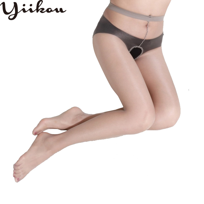 Ultra-thin open file transparent seamless pantyhose female invisible anti-hook silk stockings women sexy free of tights pantyhos