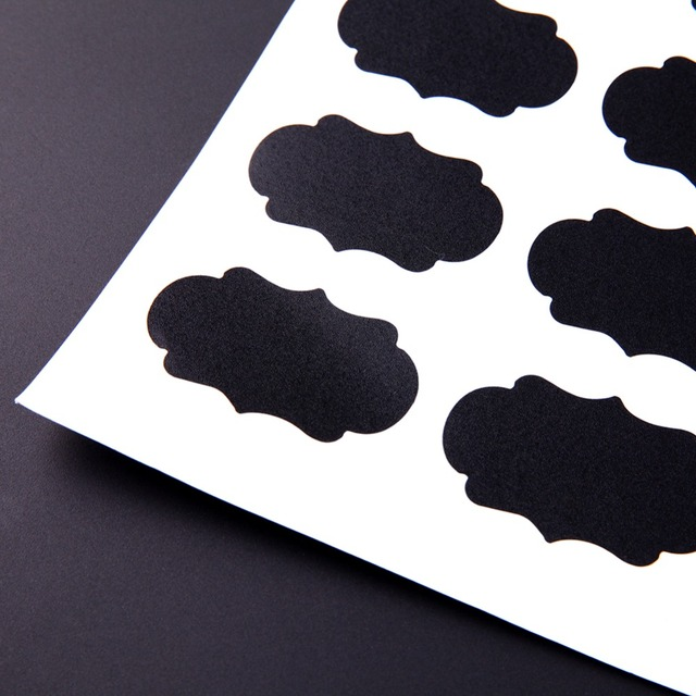 Blackboard Sticker for Kitchen Storage Bottles