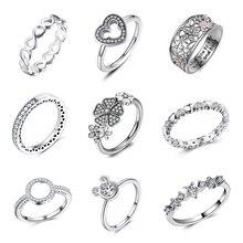 Модное Кристальное свадебное кольцо для женщин, бесконечность, любовь, цветок, кольцо на палец, Коктейльные, вечерние, фирменное кольцо, ювелирное изделие, Прямая поставка