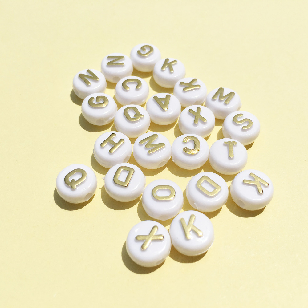 Free Shipping 1600PCs Lot DIY Jewelry Acrylic letter Beads 6 10MM Flat Coin  Round bc6403d44780