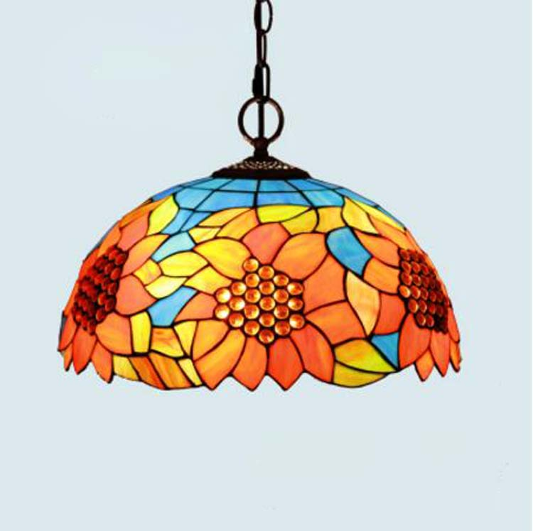 European Colourful Glass Pendant Lamps Dining Room Bedroom Study Retro Lighting Living Room Fashion and Creative Pendant Lights bamboo pendant lights rural chinese garden bedroom living room dining study teahouse light creative retro pendant lamps za zb12
