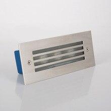 3*2 Вт светодиодный настенный светильник IP65 светодиодный лестничных осветительных шаг Встраиваемый свет Скрытая лампа в помещении/на открытом воздухе Водонепроницаемый лестница шаг огни