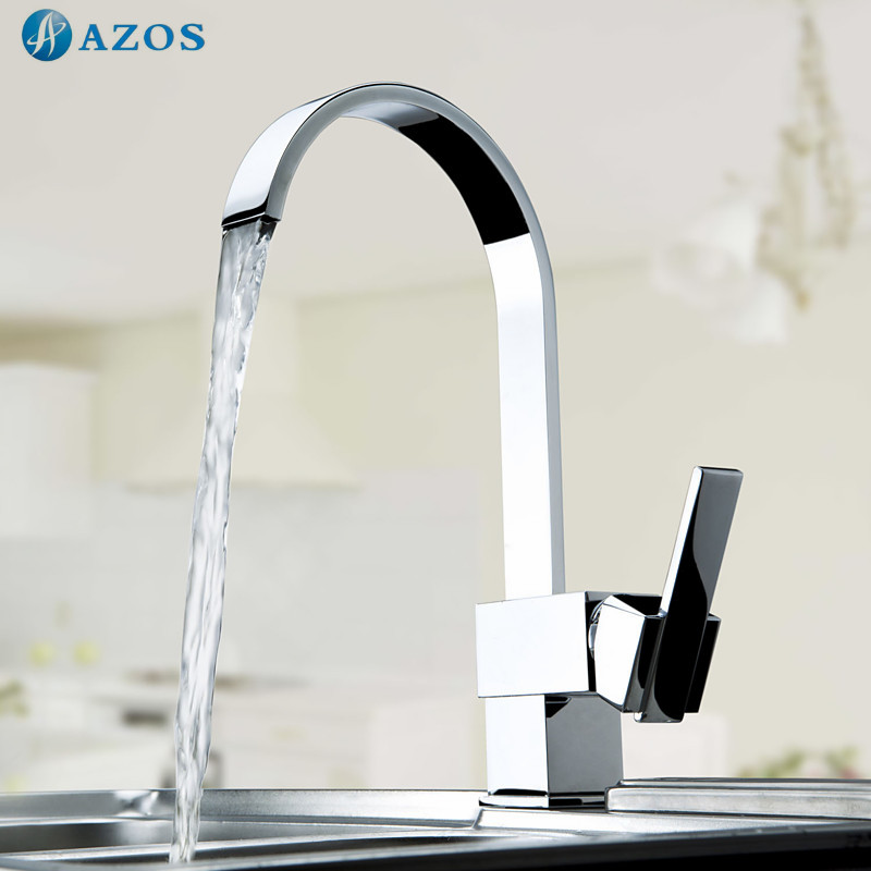 Kitchen Sink Faucets Free Rotatable Spout Single Handle Hose Chrome Polished Brass Deck Mounted Wash Mixers Furnitures CFLT005 kitchen sink faucets lift rotatable pull out hose spray head chrome polish silver single handle solid brass deck mount mixers
