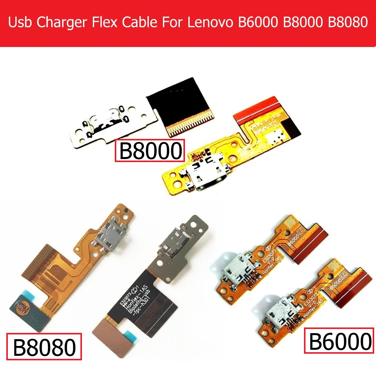 Genuine USB Charger Connector Flex Cable For Lenovo Pad <font><b>B8000</b></font> B8080 10.1