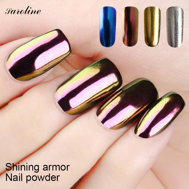 Gel Glitter Nail Pigment Mirror Powder Nails Uv Polish Holographic Chrome