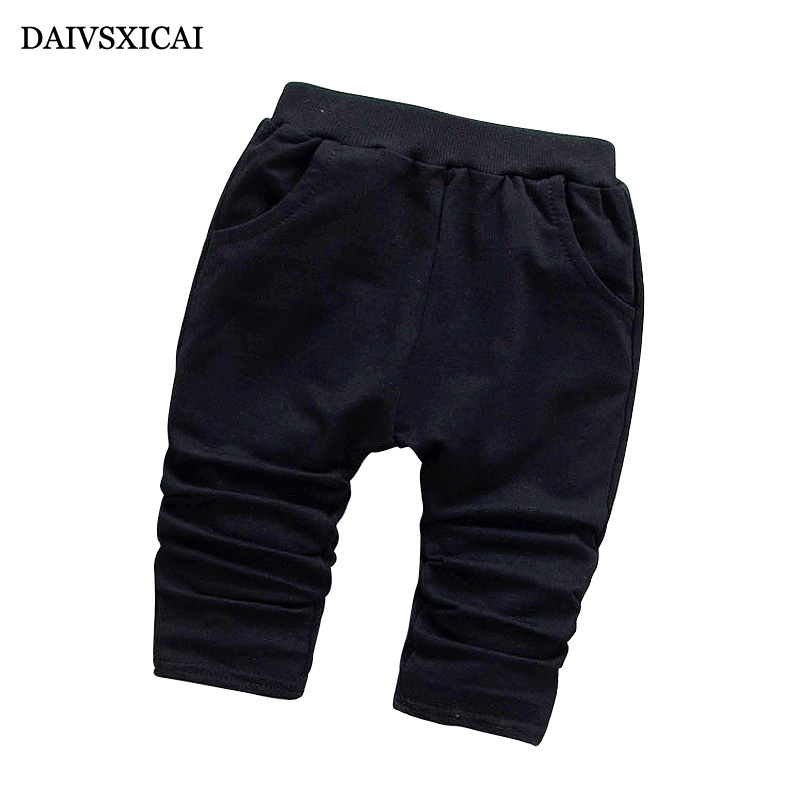 Daivsxicai Spring Kids Pants Baby Casual Solid Color Cotton Pants Boy Girl Casual Autumn High Quality Children Pants 7-24 Month