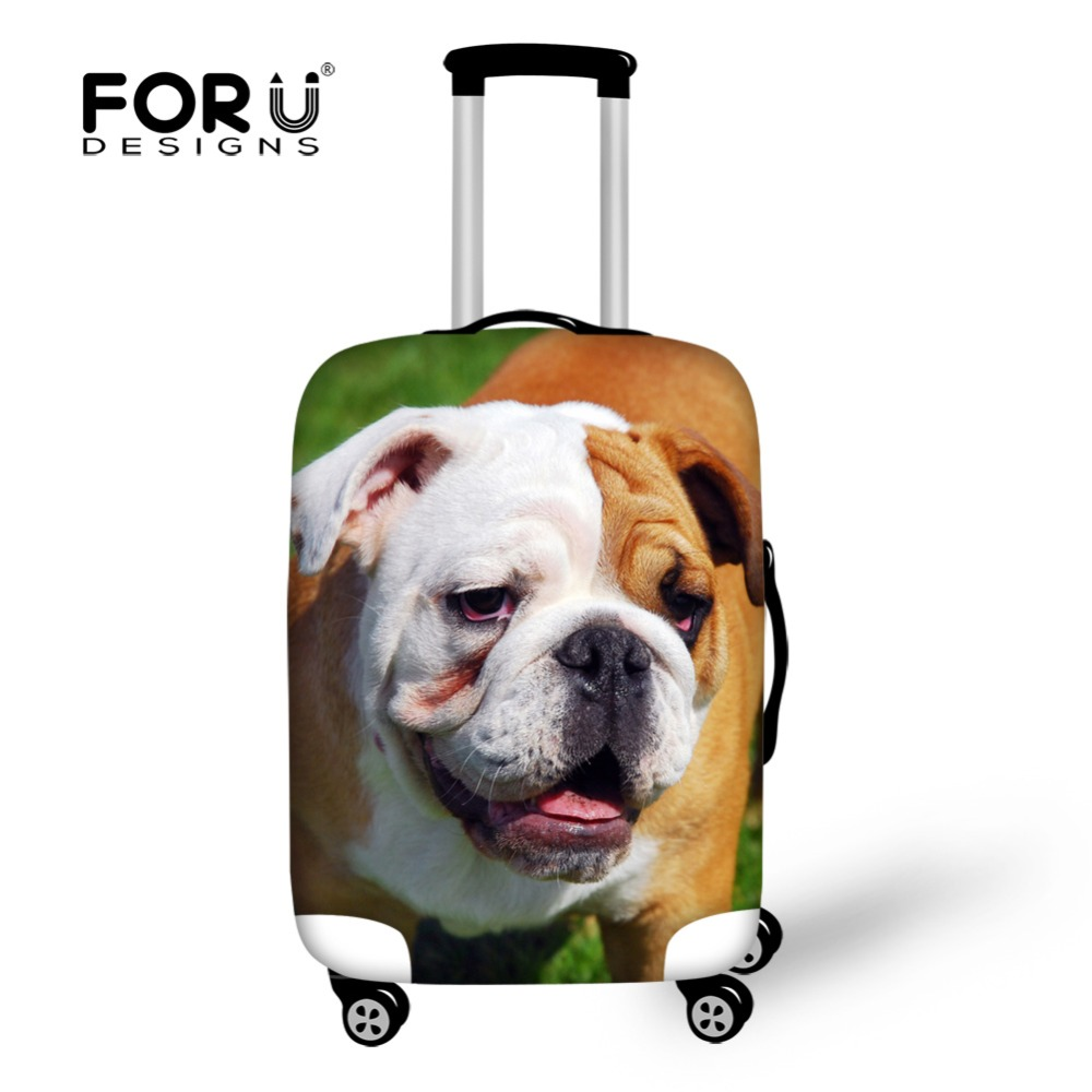 inglês france bulldog pug mulheres Item Name : Dustproof Luggage Cover