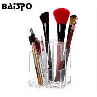 BAISPO New Arrival Wiele Trwała Przezroczysty Akryl Biżuteria Makeup Muśnięcie Kosmetyczne Organizator Box S014-shuazi