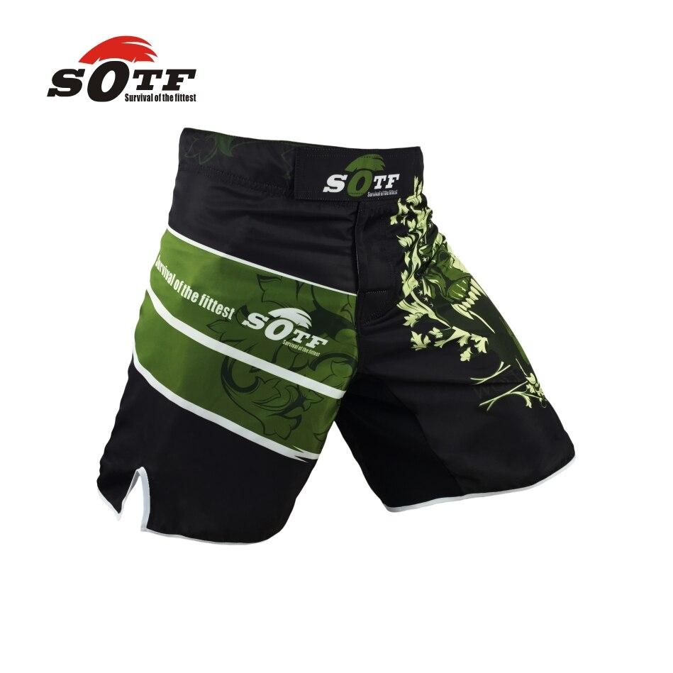MMA Shorts The Black Bear Muay Thai Boxing Trunks Training Gym Sport Clothing