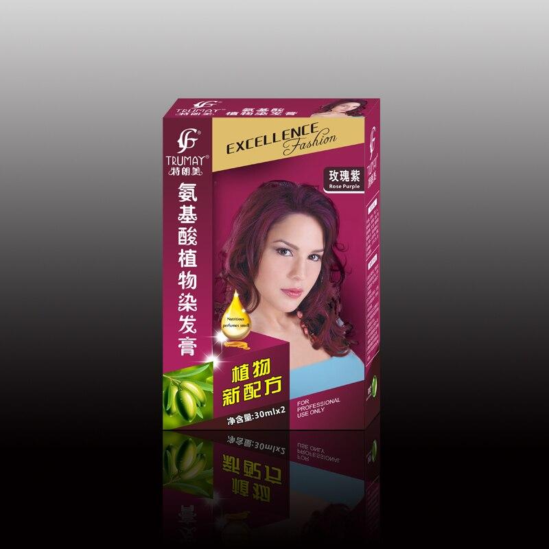 Aliexpress Buy Rose Purple Hair Dye Cream Charming And Long
