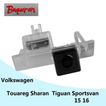 Sportsvan boqueron para volkswagen vw touareg sharan tiguan hd ccd impermeable cámara de marcha atrás del coche cámara de visión trasera de copia de seguridad