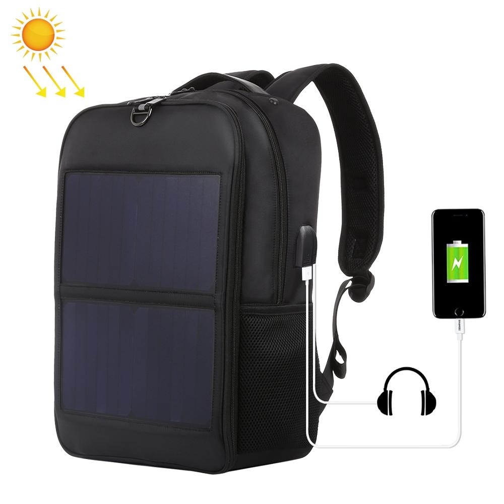 Haweel Solar Panel Backpacks Convenience Charging Laptop Bags for Travel 14W Solar Charger W h Handle