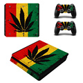 Weed Vinyl For PS4 Slim Sticker For Sony Playstation 4 Slim Console+2 controller Skin Sticker For PS4 S Skin ZY-0008