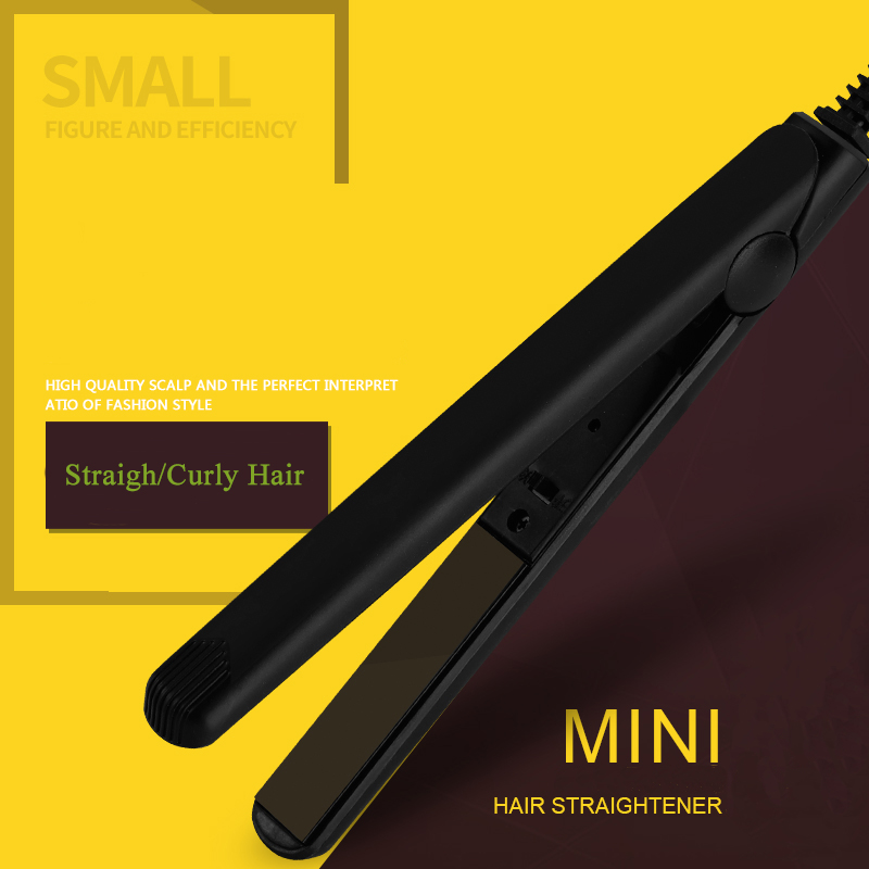 YUCHUN Mini Ceramic Electronic Hair Straightener Curler Straightening Corrugated Hair Flat Irons Hair Crimper Straightener