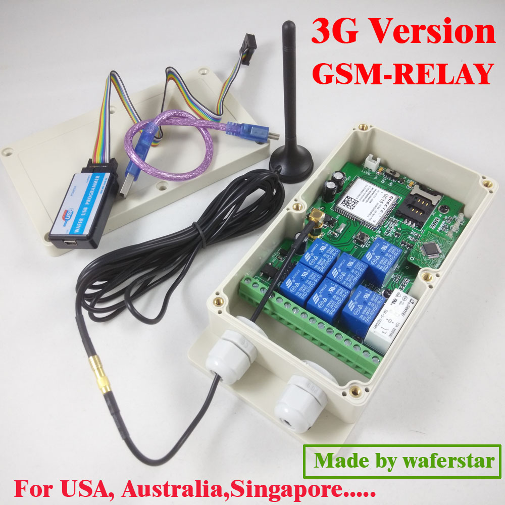 3G Version / GSM Seven relay output remote switch board (SMS Relay switch) Battery on board for power off alarm цена