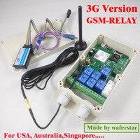 3g версия/GSM семь релейный выход пульт дистанционного управления (SMS релейный переключатель) батарея на плате для выключения питания сигнали