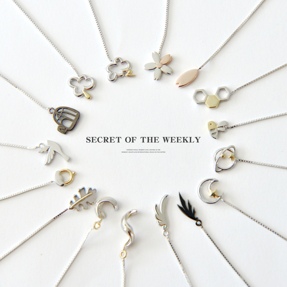 Thaya Weekly Earrings 925 Silver Secret Of The Weekly Design Earrings for Fine Jewelry Girl Gift
