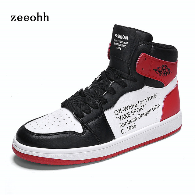 038ed558b0 US $36.0  Punching Breathable Fashion Men's Basketball Shoes Classic High  Top Protection Anti slip Sneakers Letters Printed Sports Shoes-in  Basketball ...