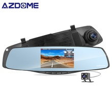 AZDOME PG06 Dell'automobile da 4.3 pollici DVR Dell'automobile Dello Specchio Dvr Della Macchina Fotografica HD 1080 P Rear View Mirror Digital Video Recorder Dual lente Auto Dash Cam
