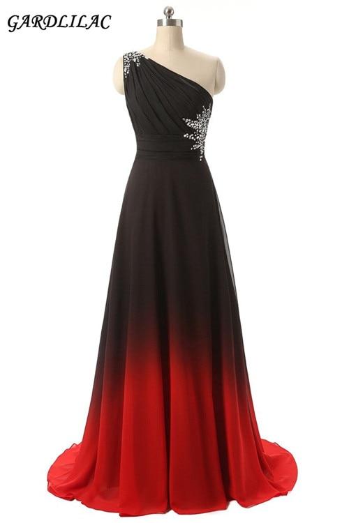 Gardlilac Novo Duga haljina za haljine Jedno rame Gradient - Vjenčanje večernje haljine - Foto 1