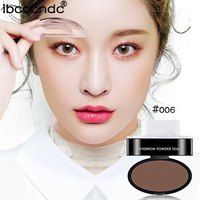 Fashion Brown Eyebrow Powder Seal Eyebrow Shadow Set Waterproof