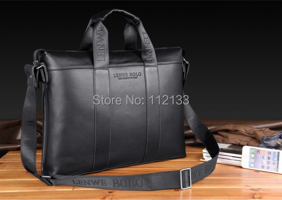 Free Shipping Brand Vintage Fashion Leather Mens Bags Men Handbags Leather Shoulder Bag Messenger  Business Cross Body Bags