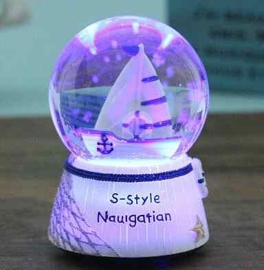 SUIRONG-719 + + + אור גביש שלג תיבת נגינת תיבת נגינת כדור לשלוח את חברתו מתנת יום הולדת לילדים לbestie