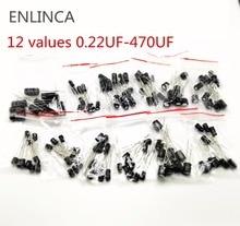 120 шт., набор алюминиевых электролитических конденсаторов, 12 значений, 0,22 мкФ Ф, 16 В, 50 в, 470 мкФ Ф, 0,22 мкФ Ф, 1 мкФ, 0,47 мкФ, 2,2 мкФ, 22 мкФ