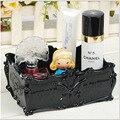 Nova Cosméticos Organizador Gavetas de Acrílico Transparente Caixa de Jóias Caixa De Armazenamento De Maquiagem Preta