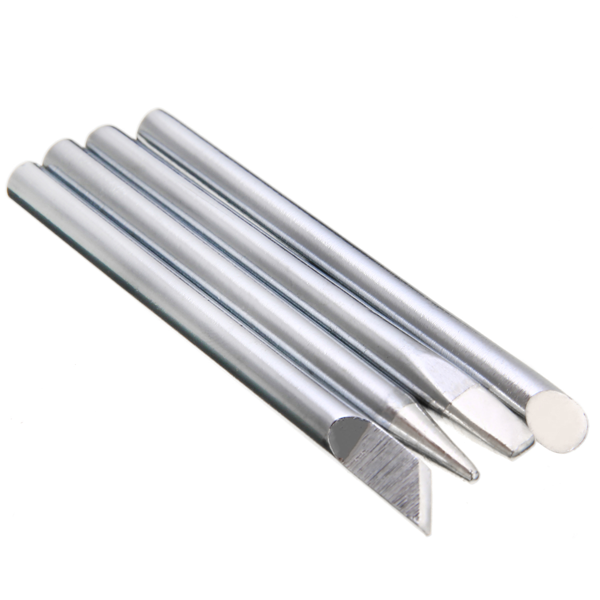 4Pcs/Set 60W Power Copper Soldering Iron Tip Head Replacement 5.5mm Shank For Electric Welding Solder Iron Head Tool