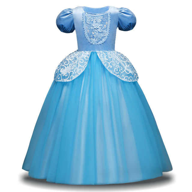 Meninas Cinderela Vestido Crianças Vestidos do Verão Para a Menina Veste Crianças Vestido de Halloween Branca de Neve Vestidos de Princesa Rapunzel Aurora