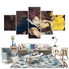 5 Pieces Anime Cartoons Fairy Tail Natsu Modern Decorative Dragneel Posters Christmas Gifts Wall Decor good smile anime pvc 1 7 fairy tail natsu dragnir action figure natsu dragneel model toy decoration collections men gift 23cm
