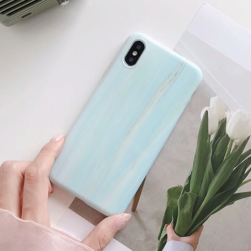 BROTOLA For iPhone 6 Case Silicone Light Marble Phone Cases For iPhone X 7 6s 8 Plus Fashion Soft TPU Glossy Back Cover Capa