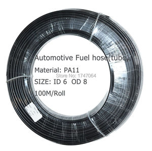 Image 2 - 6mm * 8mm * 10 meter ID6 PA11 spezielle automotive fuel linie nylon rohr für kraftstoff rohr