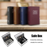 LESHP Lock Box Book Hidden Security Safety Lock Larger Size Simulation Dictionary Security Box Cash Money