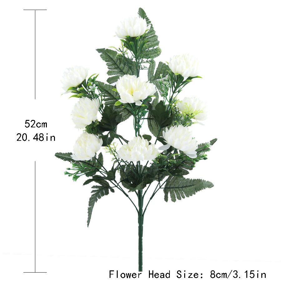 4 colors 52cm 3pcs 27 heads silk gerbera daisy chrysanthemum 4 colors 52cm 3pcs 27 heads silk gerbera daisy chrysanthemum artificial flowers for cemetery grave wedding home party decoration in artificial dried mightylinksfo