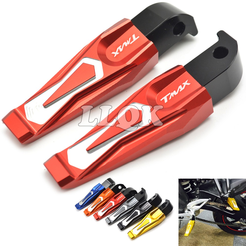 Motorcycle Rear Foot Pegs CNC Tmax Dirt Bike Footrest Footpedals For Yamaha Max  T-max500 Tmax 500 2011 2010 2009 2008 2007
