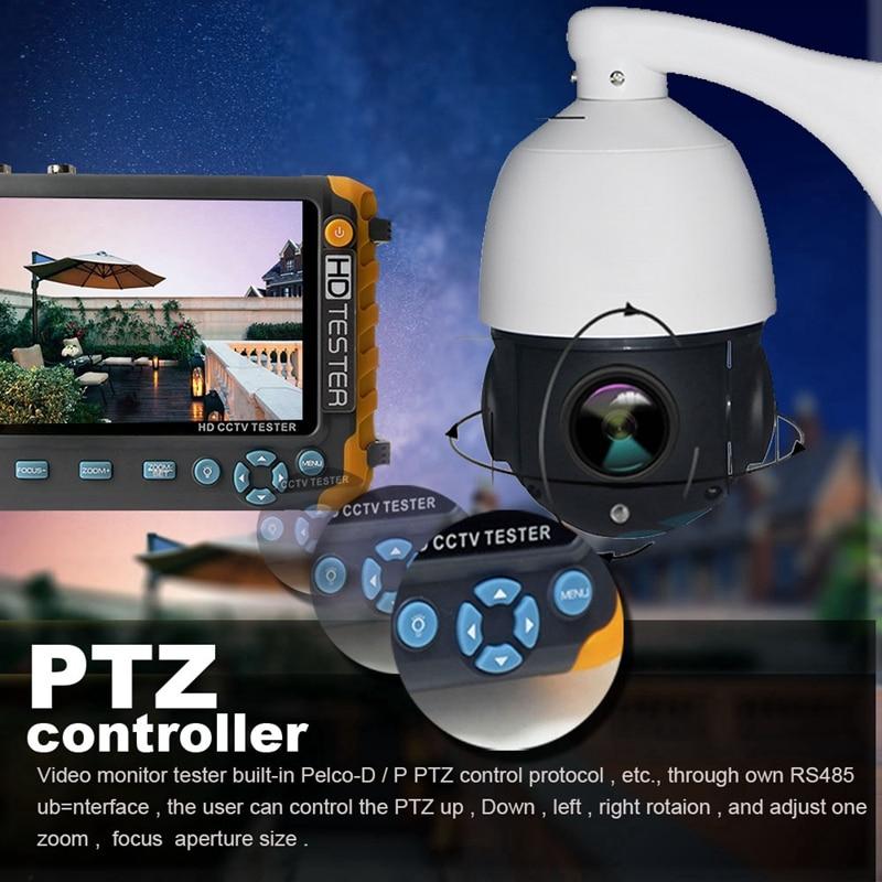 5 Pollici Tft Lcd Hd 5Mp Tvi Ahd Cvi Cvbs Analogico Tester Telecamera di Sicurezza Monitor in Uno Cctv Tester Vga ingresso Hdmi Iv8W #8 - 6