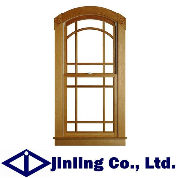 Modern Design Wooden Window, Vertical Sliding Window