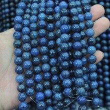 Натуральный Дюмортьерит каменные бусы натуральный камень Бусины DIY свободные шарики для изготовления ювелирных изделий для браслета делая Бесплатная доставка