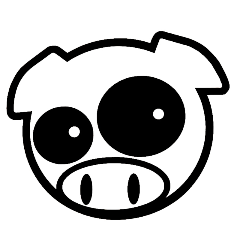 HotMeiNi 38.5CM x 45CM Mad Pig Mascot Rally Funny Car Sticker For Cars Door Side Truck Window Rear Windshield Vinyl Decal hot sale custom decals for cars uv protection 3m car vinyl wrap rear windshield high beam ghost decal sticker with suction cup