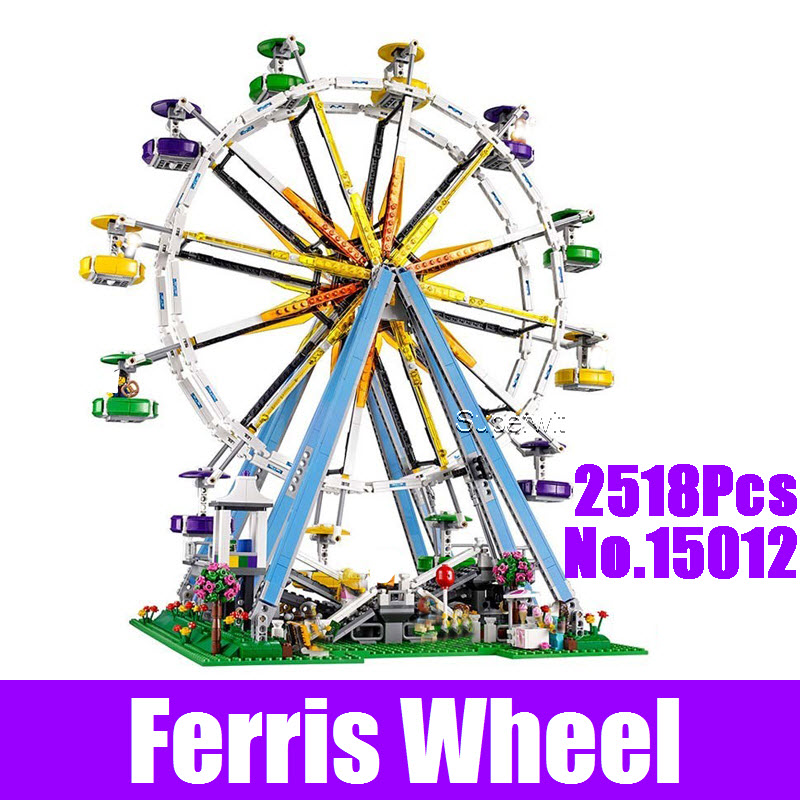 LEPIN 15012 2478Pcs City Expert Ferris Wheel Model Building Kits Block Bricks Compatible 10247 DIY Educational Children Toy Gift 2478pcs lepin 15012 city expert ferris wheel model building kits assembling block bricks compatible with 10247 educational toys