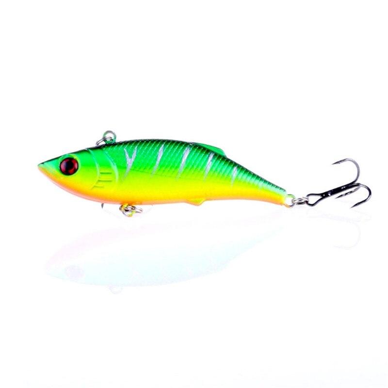 1Pcs VIB Fishing Lure 8cm 9.7g Fishing Lures Plastic Bass Trolling Hard Bait Lead Inside Vibration Wobbler Fishing Tackle