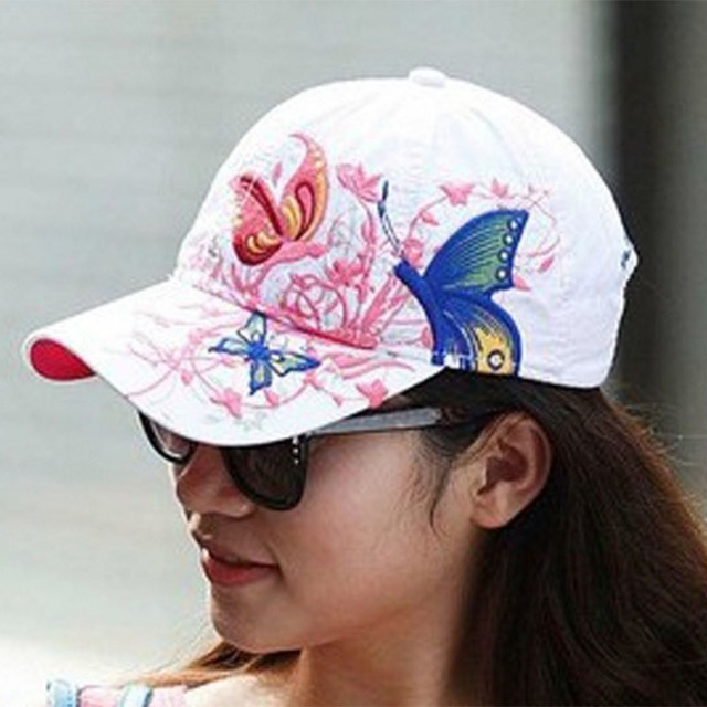 The New Female Floral Hat Baseball Cap Spring and Summer Casquette Sports and Leisure Sun Visor Sun Hat Snapback Cap Sunbonnet