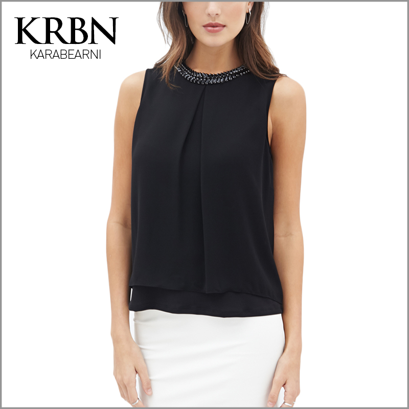 Krbn brand women tops summer clothing 2016 women blouses for Top dress shirt brands