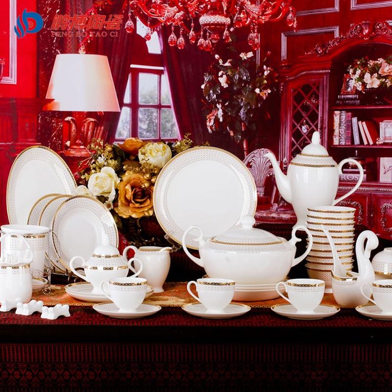 European style swiss luxurious royal bone china porcelain tableware sets apol - Vaisselle de luxe marque ...