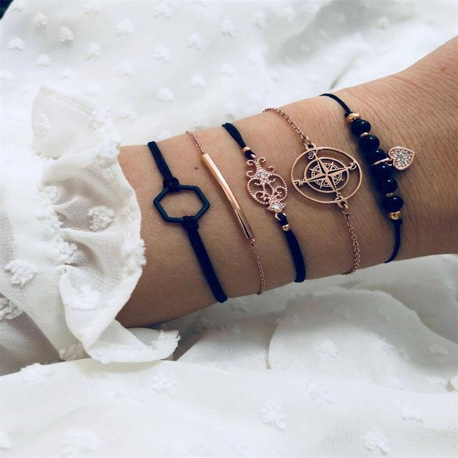 30 стильный браслет в стиле бохо, слон, сердце, ракушка, звезда, луна, бант, карта, Хрустальный браслет из бисера, женские очаровательные вечерние ювелирные изделия, аксессуары для свадьбы - Окраска металла: 020